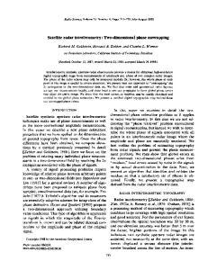 Satellite radar interferometry' Two-dimensional phase unwrapping
