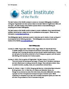 Satir Bibliography 1. Satir Bibliography