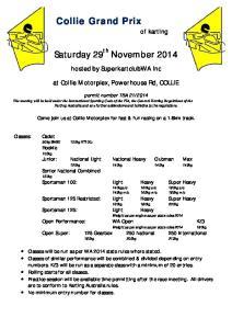 Saturday 29 th November 2014