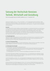 Satzung der Hochschule Konstanz Technik, Wirtschaft und Gestaltung