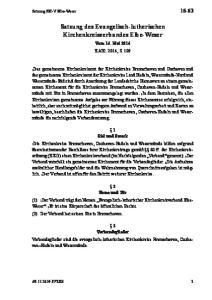 Satzung des Evangelisch-lutherischen Kirchenkreisverbandes Elbe-Weser