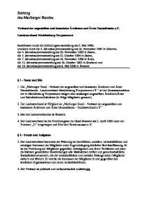 Satzung des Marburger Bundes