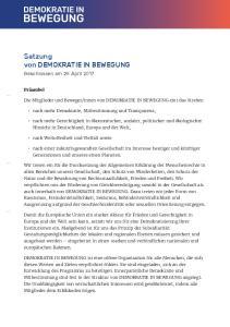 Satzung von DEMOKRATIE IN BEWEGUNG