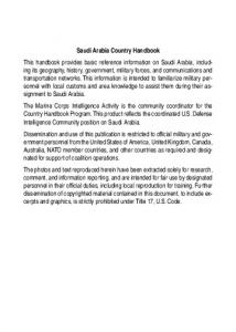 Saudi Arabia Country Handbook