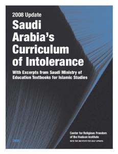 Saudi Arabia s Curriculum of Intolerance