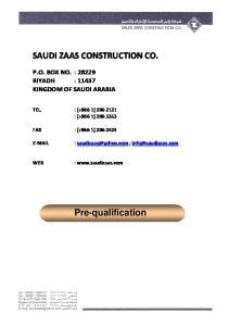 SAUDI ZAAS CONSTRUCTION CO