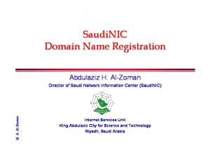 SaudiNIC Domain Name Registration