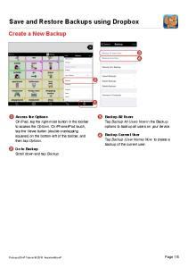 Save and Restore Backups using Dropbox