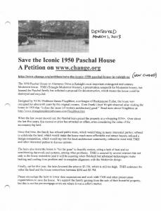 Save the Iconic 1950 Paschal House A Petition on