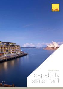Savills Hotels. capability statement