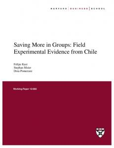 Saving More in Groups: Field Experimental Evidence from Chile