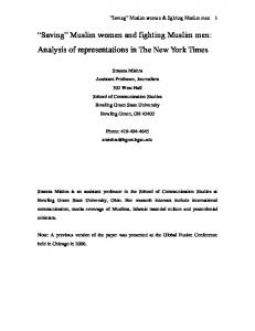 Saving Muslim women and fighting Muslim men: Analysis of representations in The New York Times