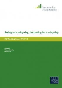 Saving on a rainy day, borrowing for a rainy day