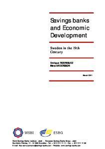 Savings banks and Economic Development