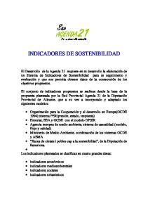 Sax AGENDA. Por un desarrollo sostenible INDICADORES DE SOSTENIBILIDAD