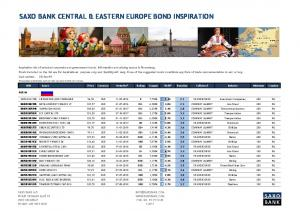 SAXO BANK CENTRAL & EASTERN EUROPE BOND INSPIRATION