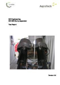 SB Engineering SB 250 Slurry separator