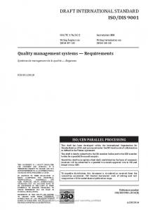SC Quality management systems Requirements