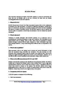 SCADA Primer. 1 - What is SCADA?