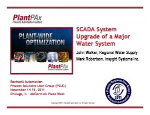 SCADA System Upgrade of a Major Water System