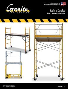 Scaffold Catalog Safety Guidelines Included