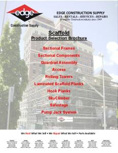 Scaffold Product Selection Brochure