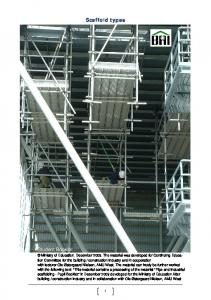 Scaffold types. Student Booklet