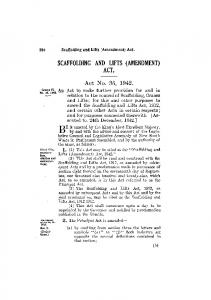 SCAFFOLDING AND LIFTS (AMENDMENT) ACT