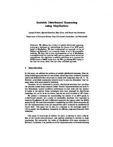 Scalable Distributed Reasoning using MapReduce