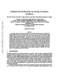 Scalable Kernel Methods via Doubly Stochastic Gradients