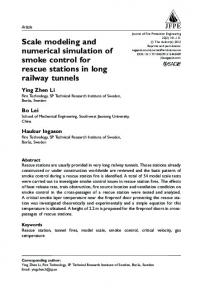 Scale modeling and numerical simulation of smoke control for rescue stations in long railway tunnels