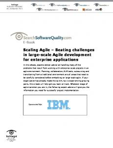 Scaling Agile Beating challenges in large-scale Agile development for enterprise applications