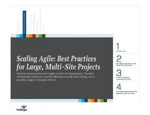 Scaling Agile: Best Practices for Large, Multi-Site Projects
