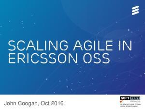Scaling Agile in Ericsson OSS