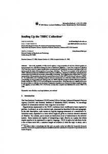Scaling Up the TREC Collection *