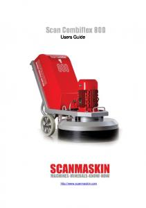 Scan Combiflex 800. Users Guide