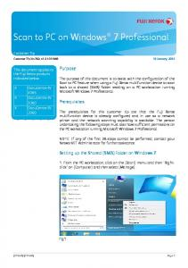 Scan to PC on Windows 7 Professional