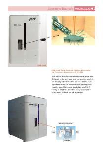 Scanning Electron MICROSCOPES SEM-30AX. SEM-30AX, Table Scanning Electron Microscope, EDS Functions, Magnification: X