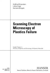 Scanning Electron Microscopy of Plastics Failure