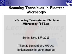 Scanning Techniques in Electron Microscopy