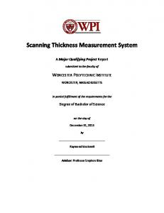 Scanning Thickness Measurement System