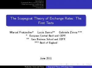 Scapegoat Theory of Exchange Rates. First Tests