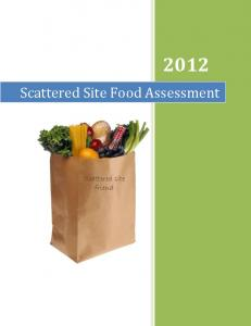Scattered Site Food Assessment. Scattered site friend