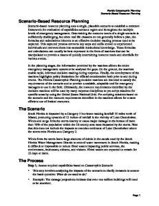 Scenario-Based Resource Planning. The Scenario. The Process