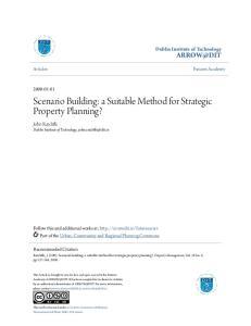 Scenario Building: a Suitable Method for Strategic Property Planning?