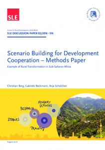 Scenario Building for Development Cooperation Methods Paper
