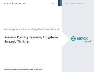 Scenario Planning: Fostering Long-Term Strategic Thinking