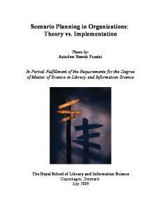 Scenario Planning in Organizations: Theory vs. Implementation