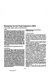Scenarios for the Food Industry in 2010