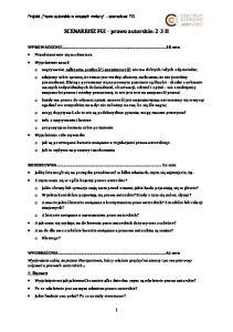 SCENARIUSZ FGI prawo autorskie: 2-3 H